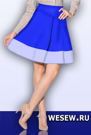 Ready pattern skirt with basque