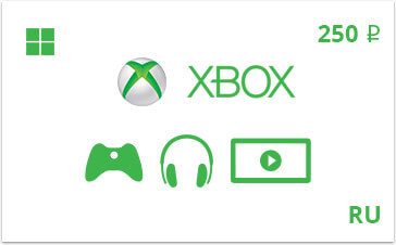 Payment card Xbox Live 250 rubles