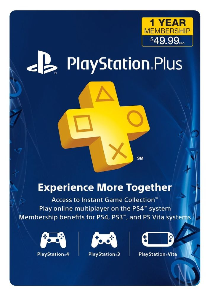 Playstation Plus 12 Month Membership (365 days) (USA)