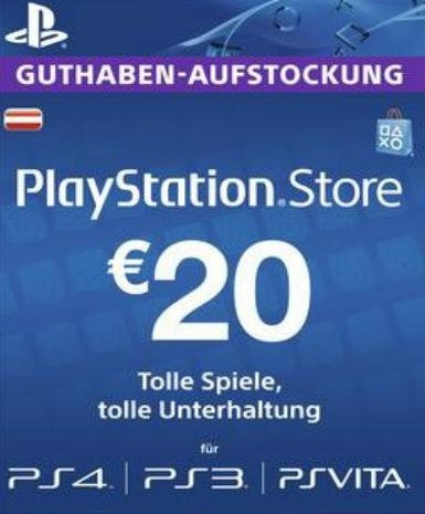 Playstation Network Card (PSN) 20€ (Austrian)