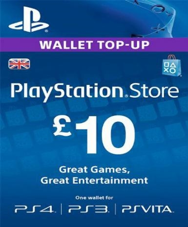 PlayStation Network Card (PSN) £10 (UK)