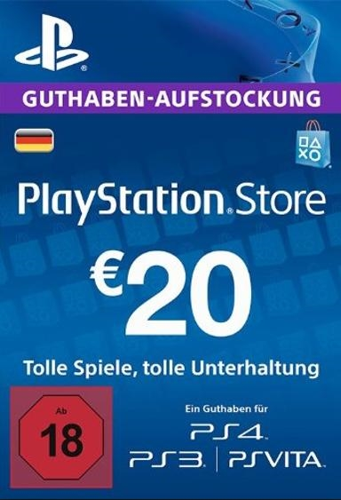 Playstation Network Card (PSN) 20 EUR (German)