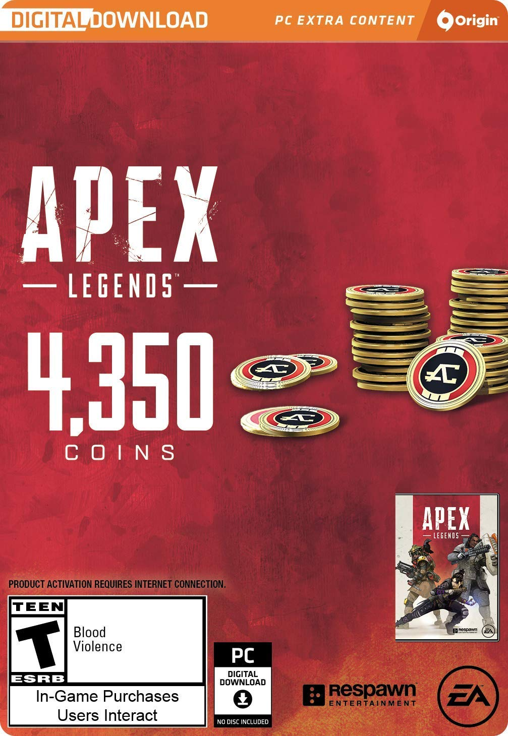 Apex Legends: 4350 coins Apex (Origin | Region Free) 2019