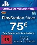 Playstation Network Card (PSN) 75 EUR (German)