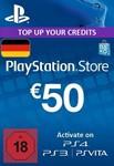 Playstation Network Card (PSN) 50 EUR (German)