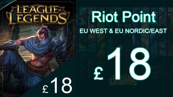 Riot Points League of Legends Gift Card 3000RP (EUW/NE)