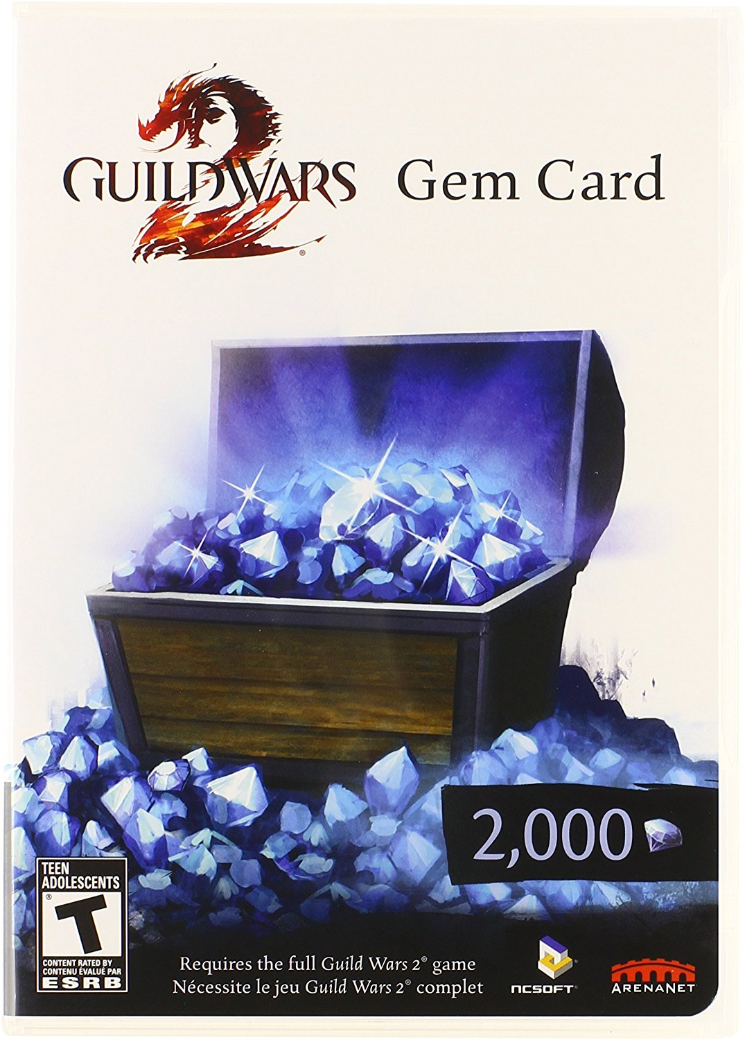 Guild Wars 2 Gem Card Code 2000 Region free