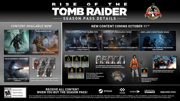 Rise of the Tomb Raider - Season Pass /REGION RU+CIS+UA