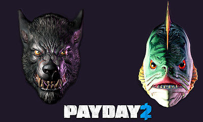 PayDay 2 Lycanwulf and The One Below Masks (Reg FREE)