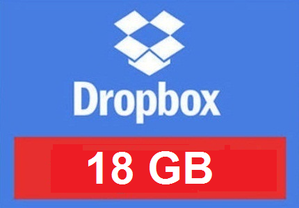 Improved DROPBOX account up to 18 GB FOREVER