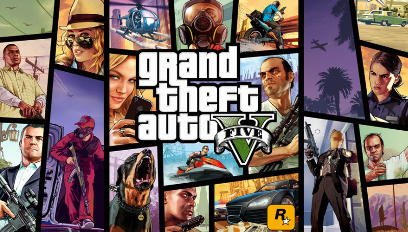 GTA V + 14 games overall account (XBOX 360)