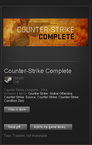 Counter-Strike: Complete █ STEAM GIFT RoW