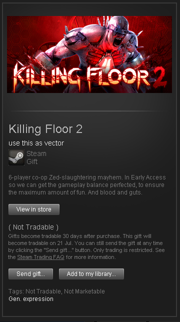 Killing Floor 2 █ RoW STEAM GIFT