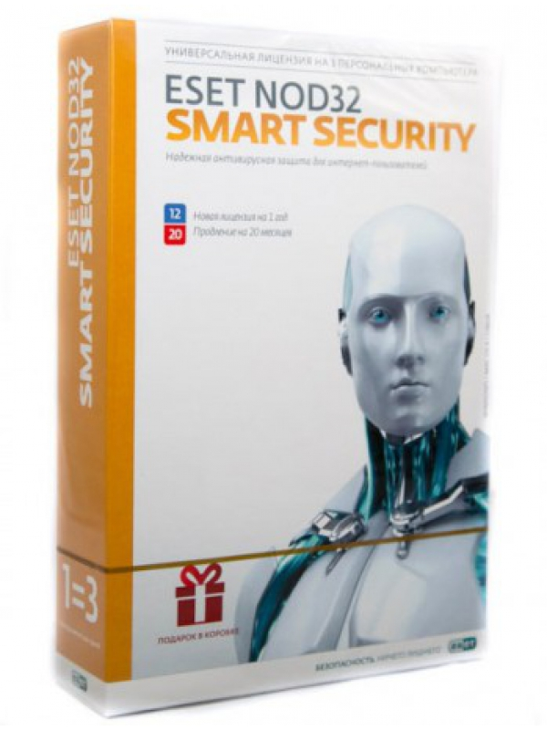 ESET NOD32 Smart Security Family 3 PC 1 year