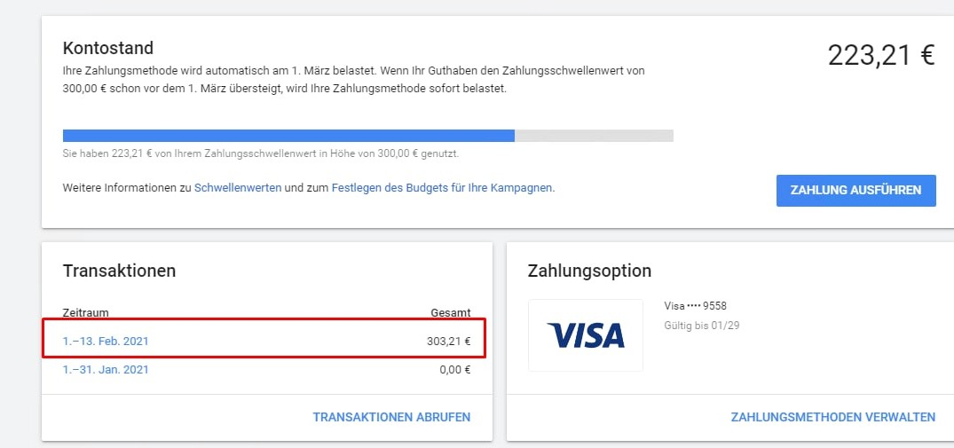 🟢1€ VISA CARD, only GOOGLE ADS (ADWORDS) ✅