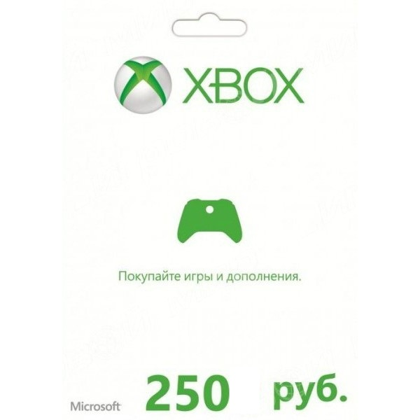 XBOX Live card pay 250 rubles (+ Win Store)