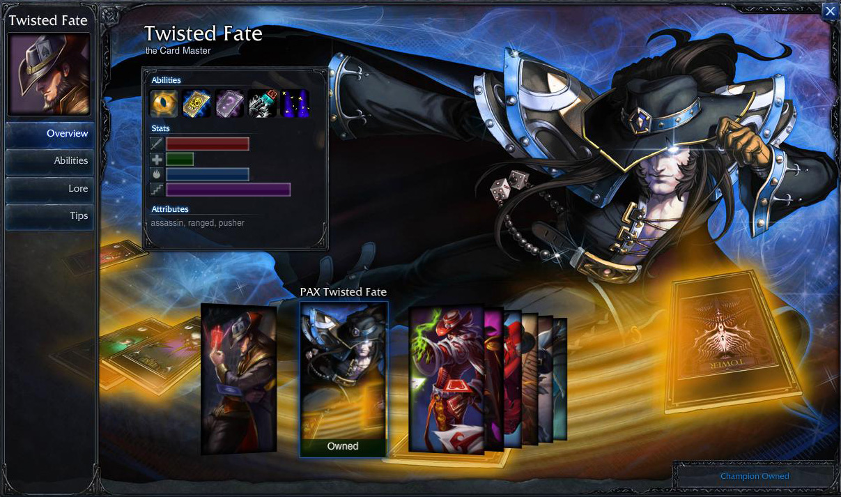 Buy League Of Legends Pax Twisted Fate Skin Any Server