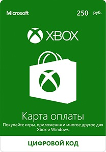 Payment Card Xbox Windows Store 250 Russian rub
