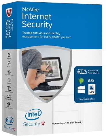 McAfee Internet Security 2019 - 5 YEARS / 1 PC REG FREE