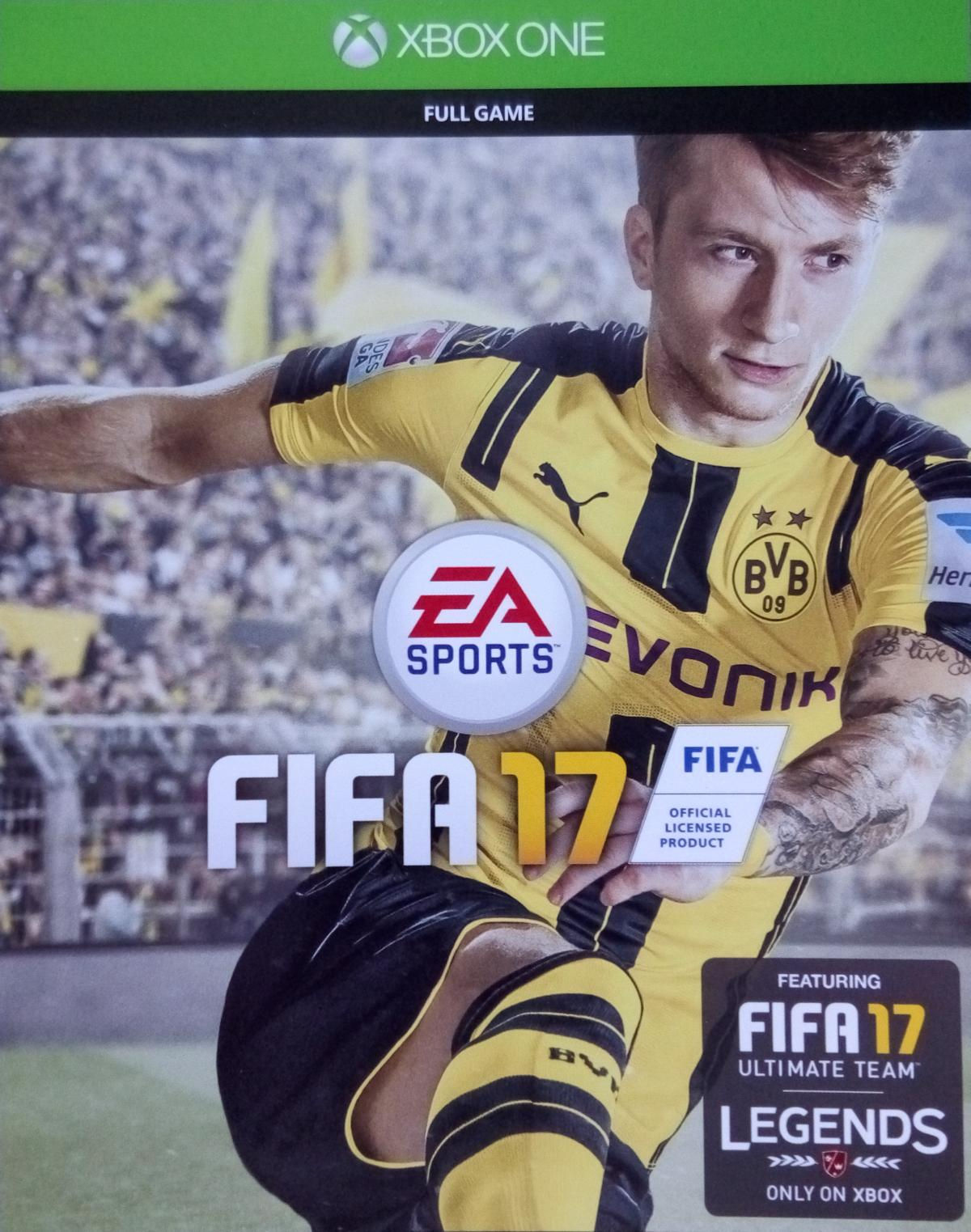 FIFA 17 XBOX ONE SCAN (KEY PHOTO) DOWNLOAD CODE