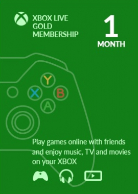 Xbox Live 1 Month GOLD Subscription Card PL/EU/US  SCAN
