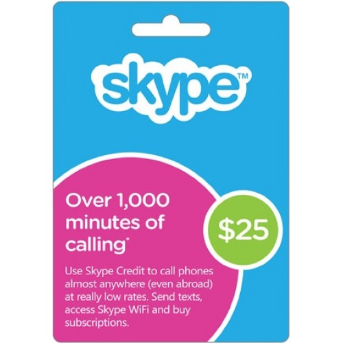 25$ Skype 25 USD Prepaid Card GLOBAL (FOTO of CARD)