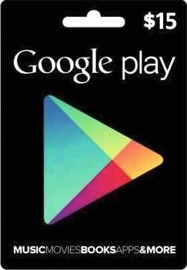 Google Play Gift Card 15 USD US (PHOTO) PRICE!!!