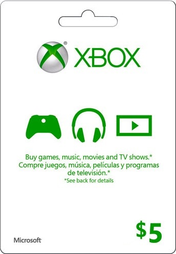XBOX Live 5 USD Card US (FOTO CARD)