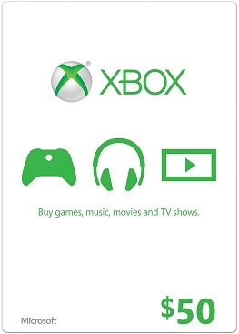 XBOX Live 50 USD Card US (ФОТО КАРТЫ)