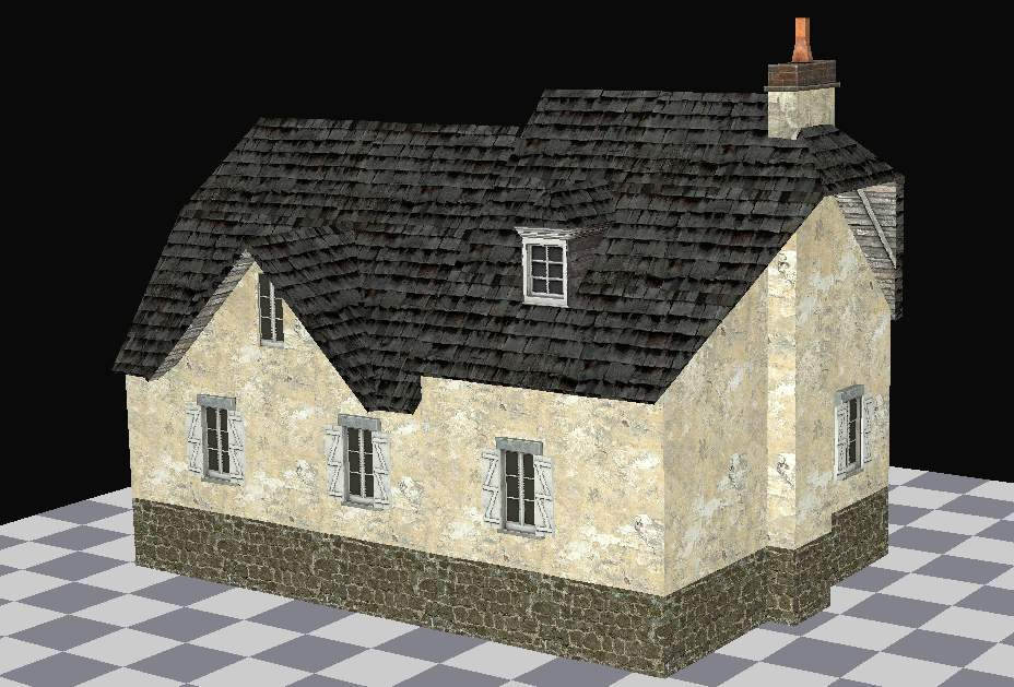3D model of the house 3