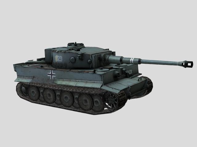 3D Model of tank Tiger