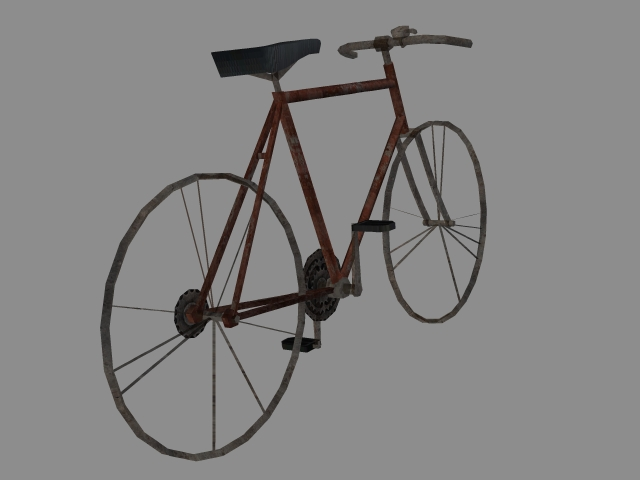 3D model of an old bicycle