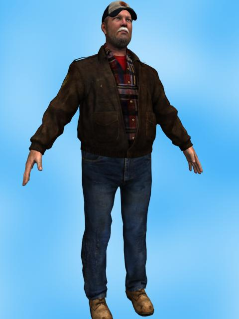 Animated 3D human model
