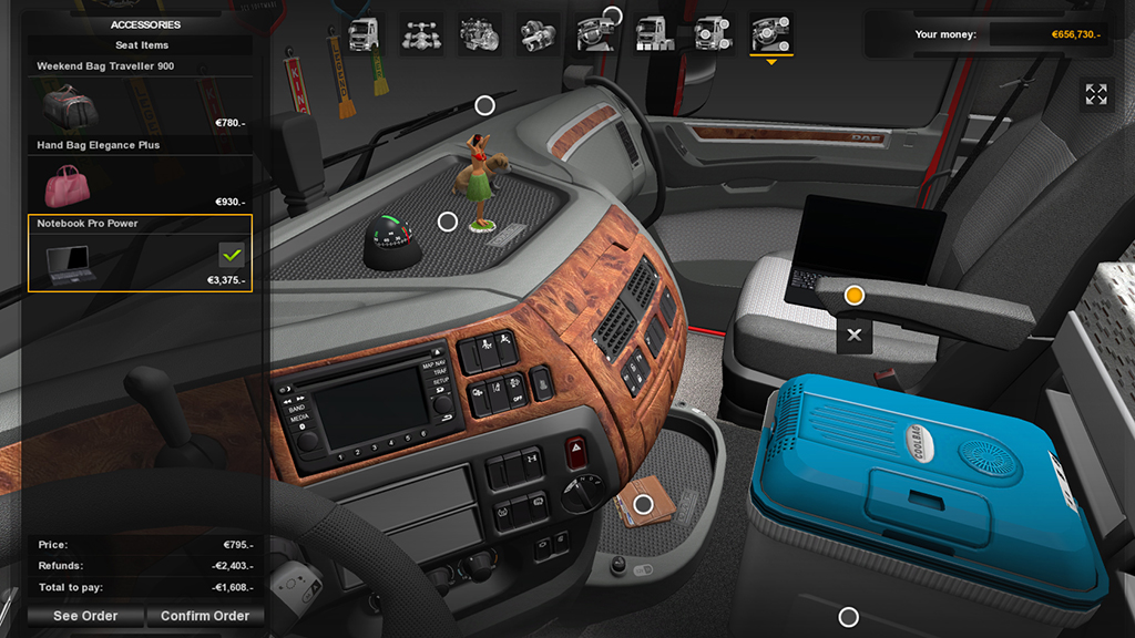 Euro Truck Simulator 2 - Cabin Accessories DLC| РОССИЯ