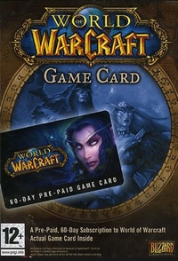 WORLD OF WARCRAFT TIMECARD 60 WOW EU