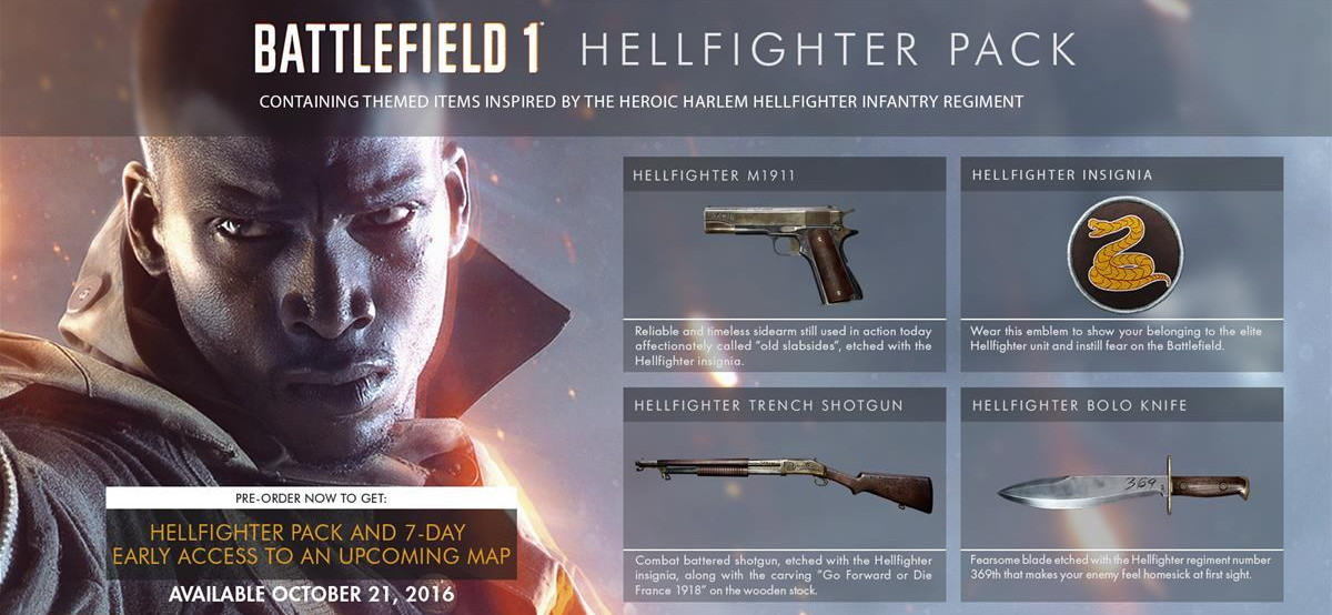Battlefield 1 DLC Hellfighter Pack (DLC)Origin/reg free