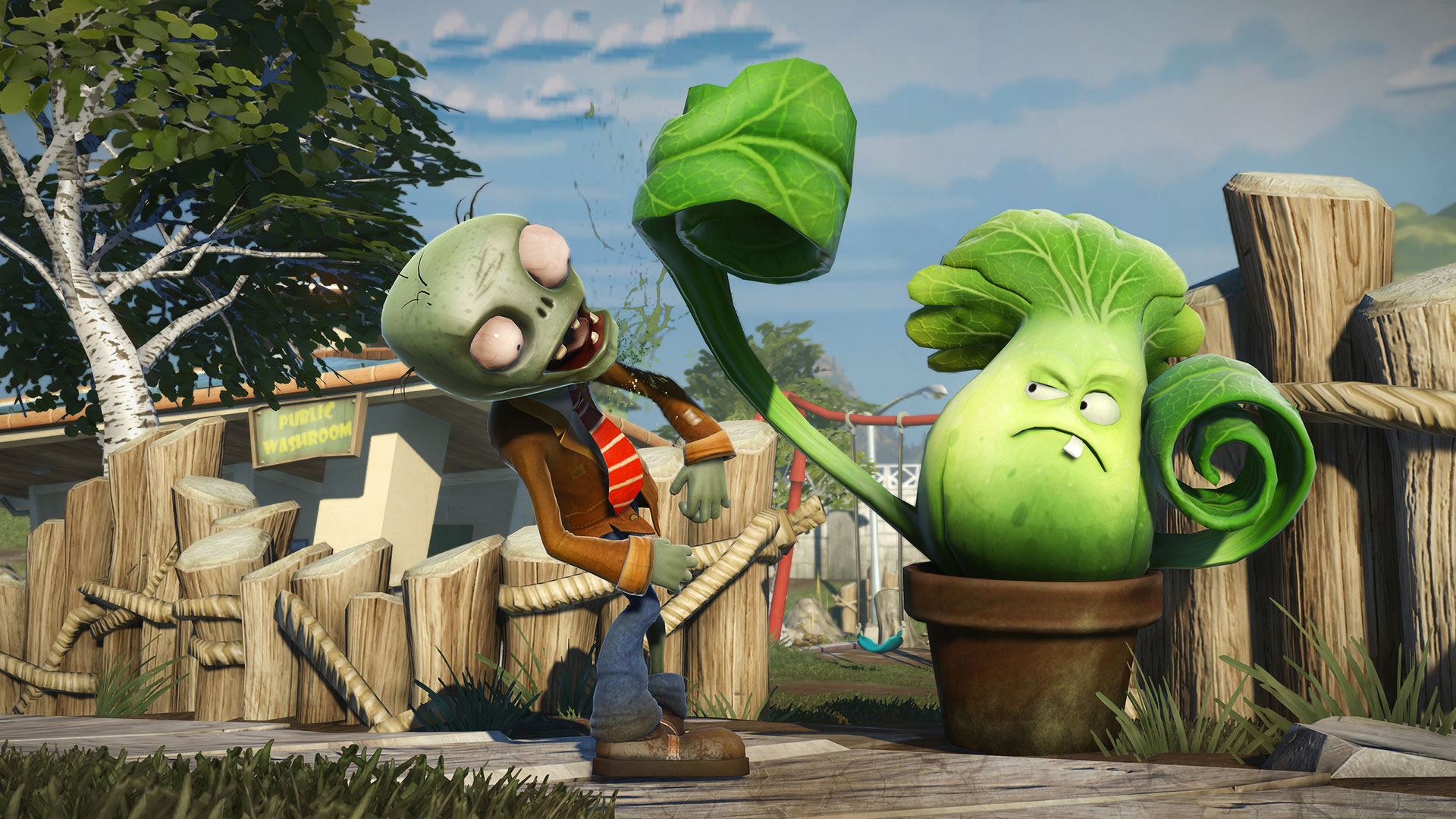 Скачать plants vs zombie garden warfare rus