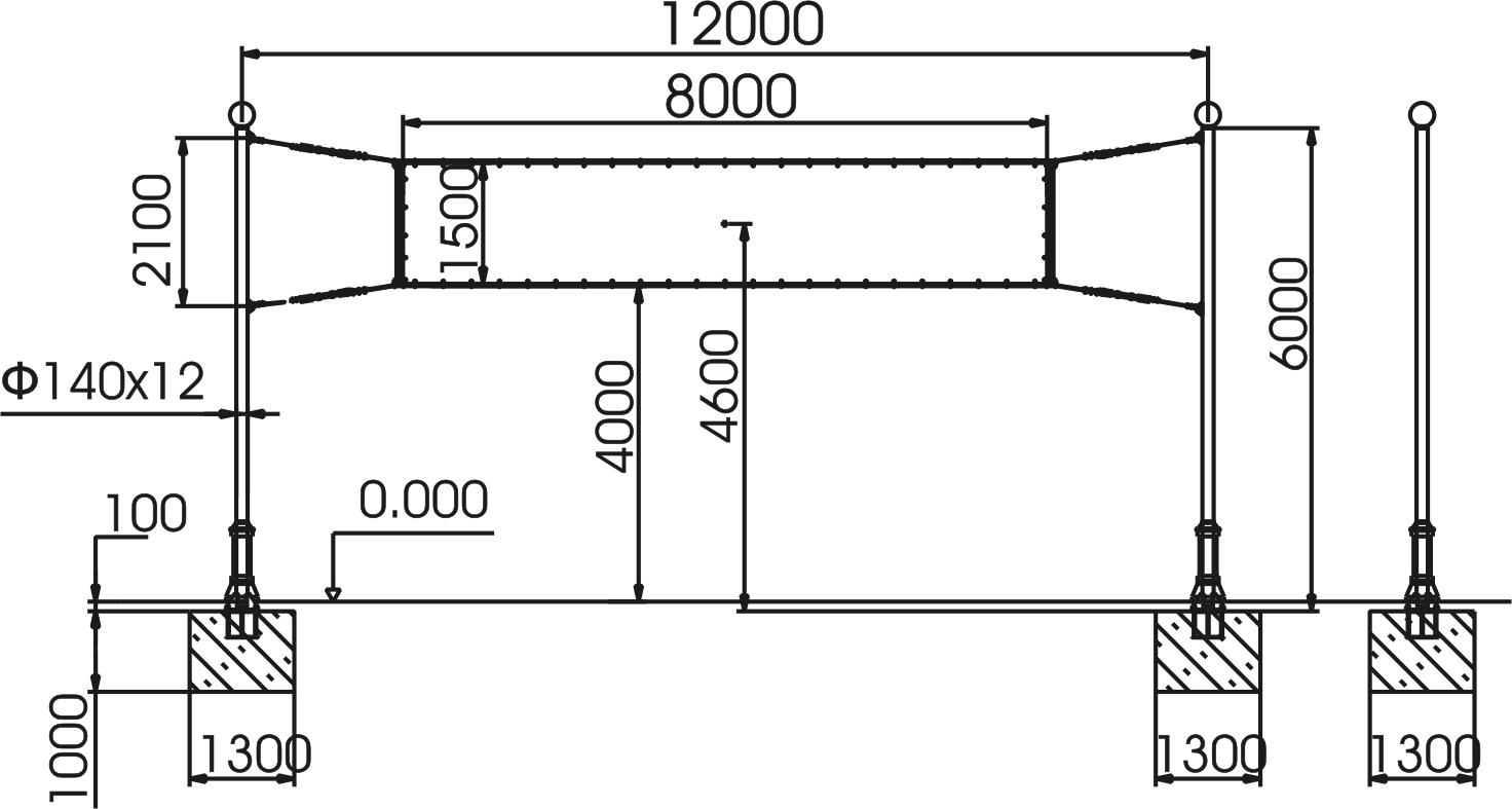 Calculation of wind load. Padding 1,5*8 m