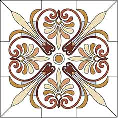 Pattern for Stained-glass window W-002