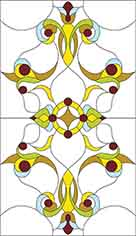 The pattern of stained glass for W-052