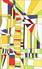 Pattern for Stained-glass window W-20