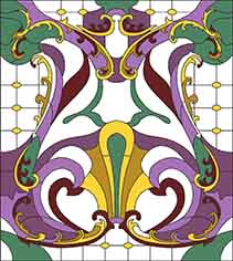 Pattern for Stained-glass window W-17