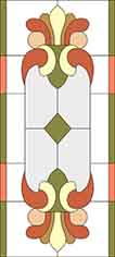 The pattern of stained glass for K-48