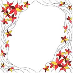 "Template for stained glass ""leaves"""