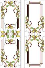 Pattern for Stained-glass window K-2025