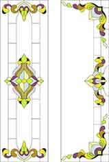 Pattern for Stained-glass window K-2009