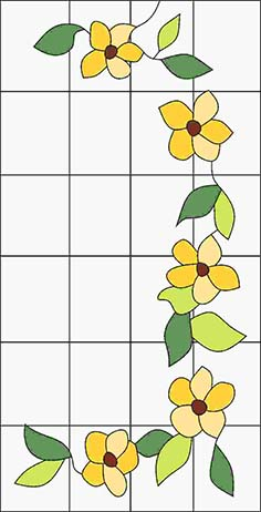 Pattern for Stained-glass window K-20