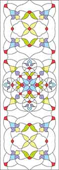 Pattern for Stained-glass window T-1011