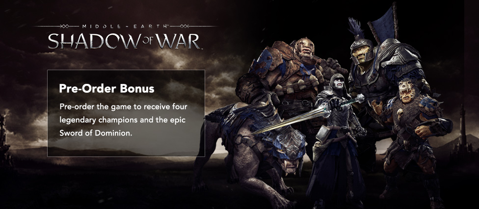 DLC-KEY MIDDLE-EARTH: SHADOW OF WAR - [PREORDER BONUS]