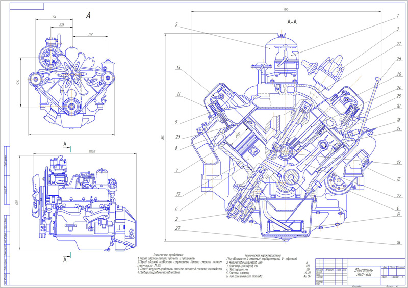 The drawing engine ZIL-508/130